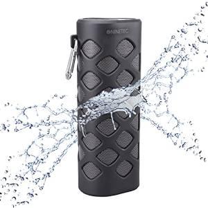 Amazon WHD - NINETEC Oxygen Wasserdichter Bluetooth NFC Speaker Lautsprecher Power Bank Schwarz
