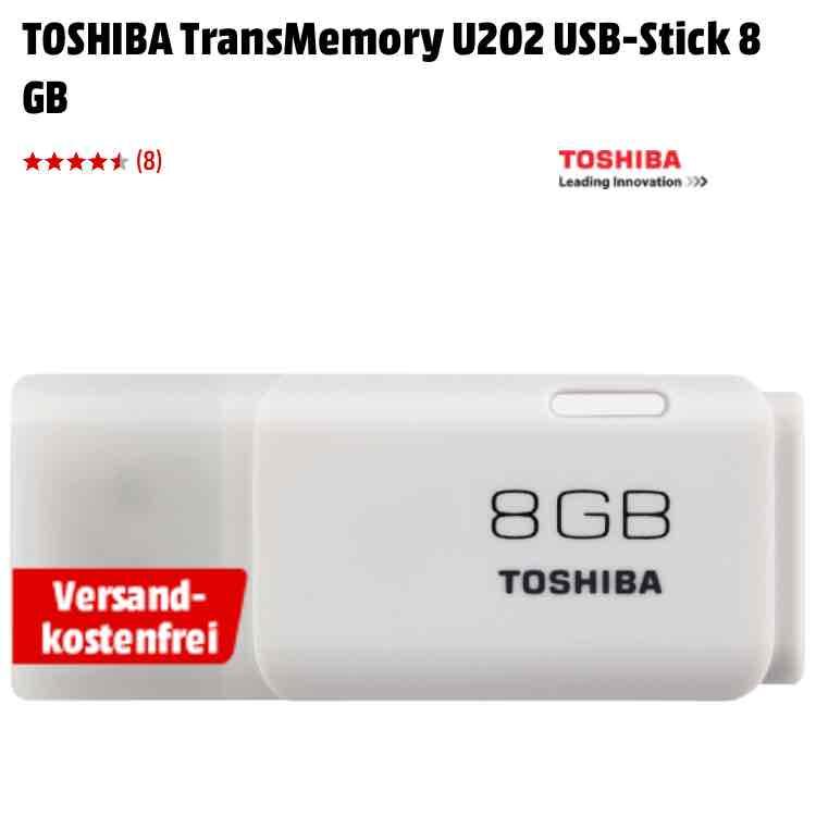 Toshiba U202 USB 2.0 Stick, 8gb