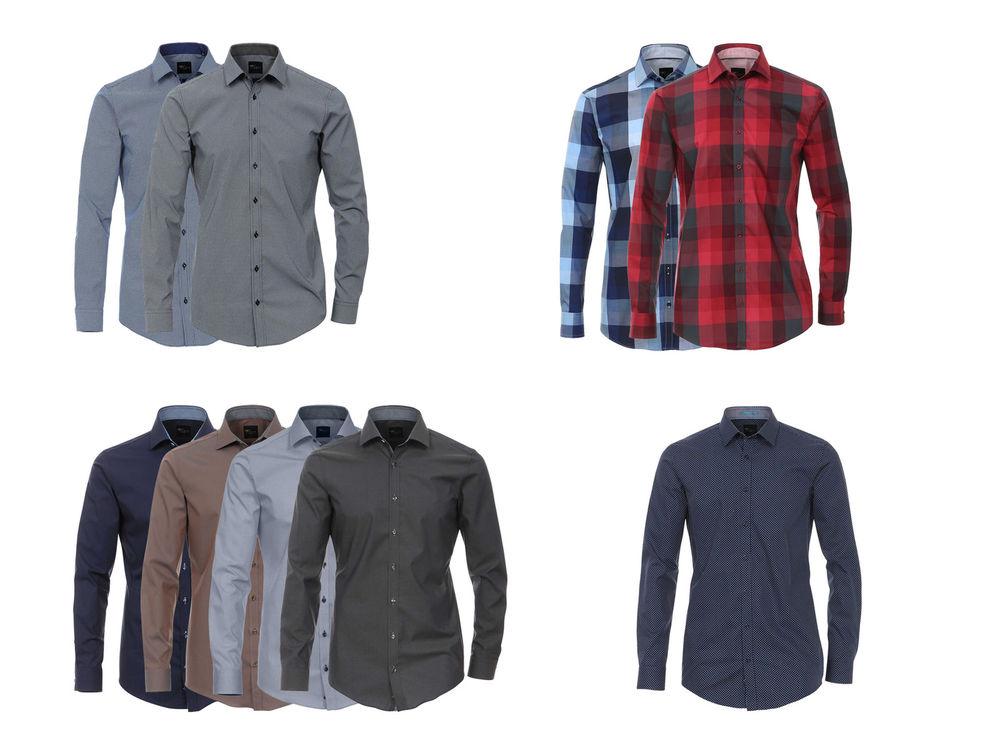100 % Baumwolle Venti Hemden verschiedene Modelle normale Länge bügelleicht