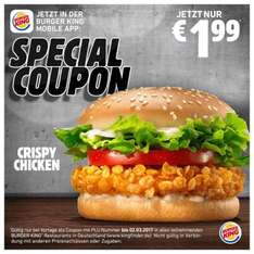 Special Coupon bei Burger King - Crispy Chicken