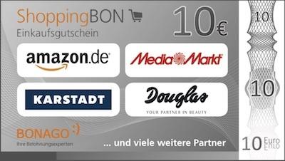 10 Euro Bonago Gutschein (u.a. Amazon) bei Ergo Versicherungscheck (KEIN Abschluss nötig!)