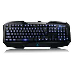 Aula 120554 Gaming Tastatur (QWERTY, LED Beleuchtung, USB) schwarz