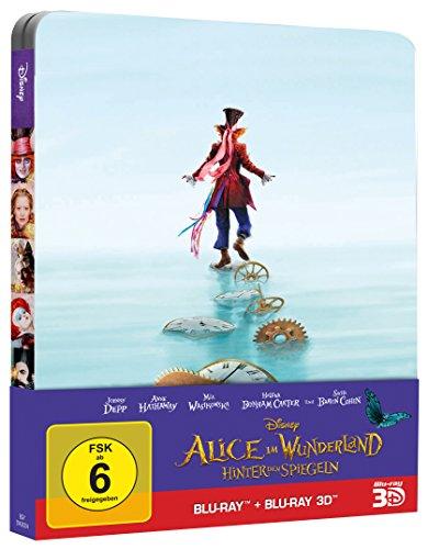 Alice im Wunderland Hinter den Spiegeln im 3D+2D Blu-ray Steelbook für 17,99€ statt 25,49€
