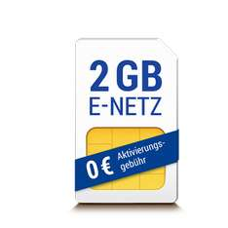 2 GB LTE, 200 Einheiten, E-Netz, keine DA, 24 Monate, keine Anschlussgebühr