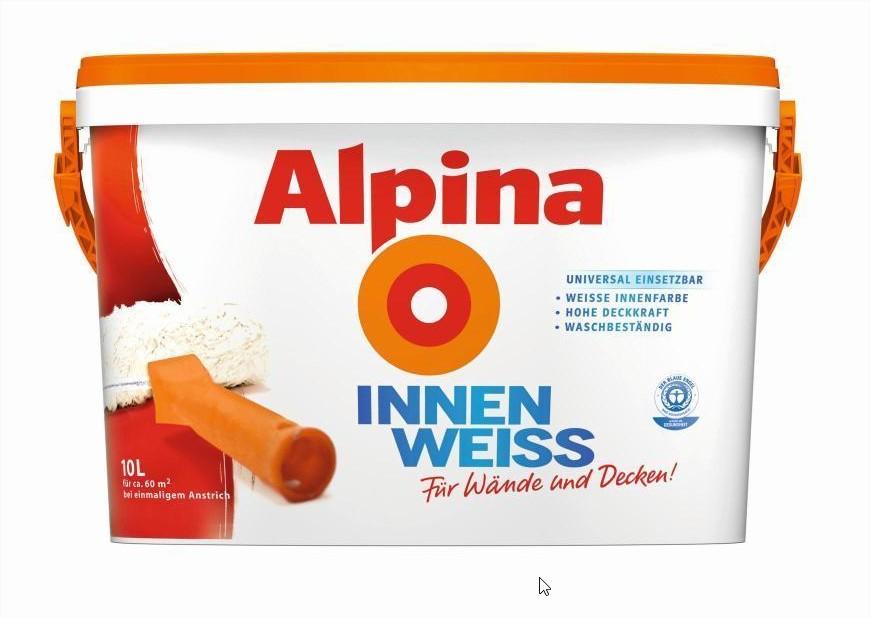 Lokal in Peine Alpina Innenweiss 10 l bei Globus für 15€