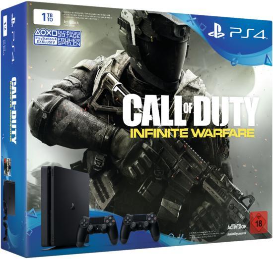 PlayStation 4 Slim 1TB inkl. Call of Duty: Infinite Warfare + 2x Dualshock 4 Controller bei Gamestop