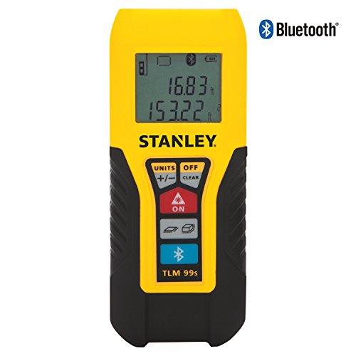Stanley Laser-Entfernungsmesser, 30 m, Distanzmesser, Flächenmessung, Volumenmessung, Bluetooth TLM 99S für 71,54€ [amazon.es]