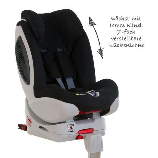 Reboard-Kindersitz Varioguard Plus inkl. Isofix Basis - Black-Black