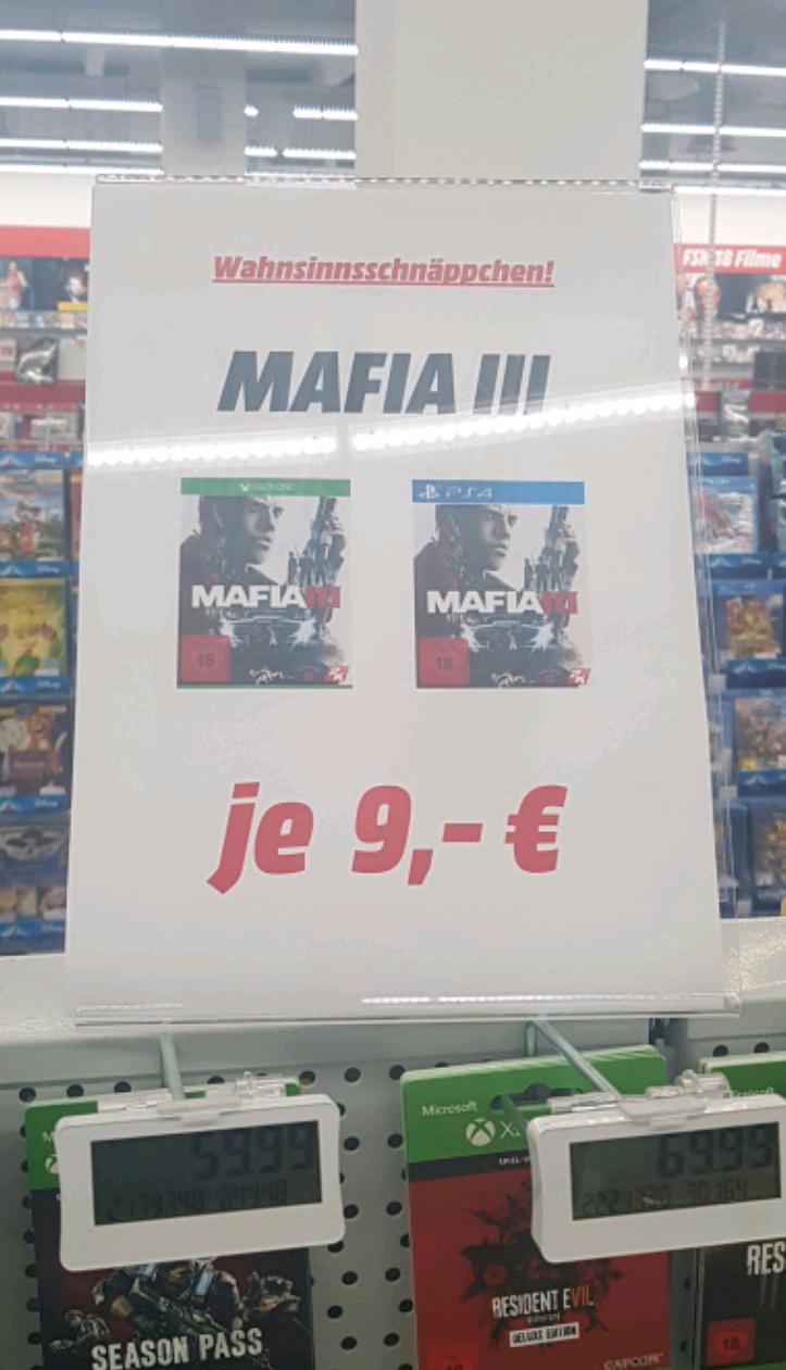 Mediamarkt Ingolstadt Mafia 3 Playstation 4 Xbox one 9€