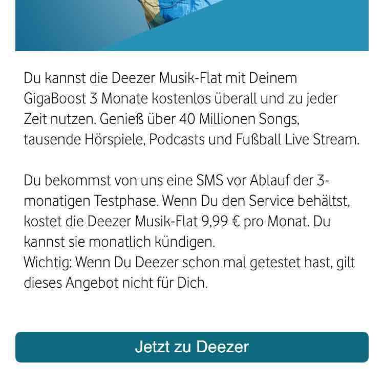 Deezer Flat - 3 Monate Kostenlos für Deezer-Neukunden