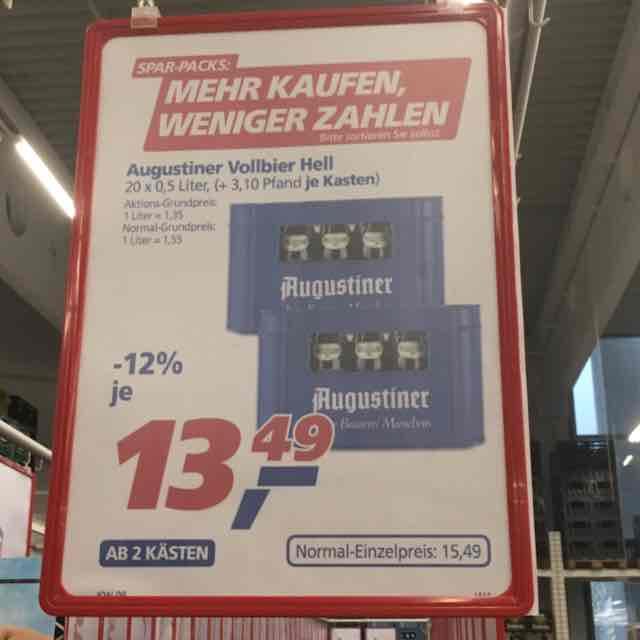 Lokal Augsburg real - 2 Kasten Augustiner je 13,49€