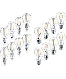 8er Pack Philips LED-Lampe Classic E14/E27 2,5W/4,5W 25W/40W Filament Warmweiß für 17,99