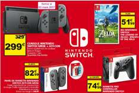 [Lokal - Auchan Luxemburg] Nintendo Switch 299,00€ - Zelda: BotW 51,99€ etc.