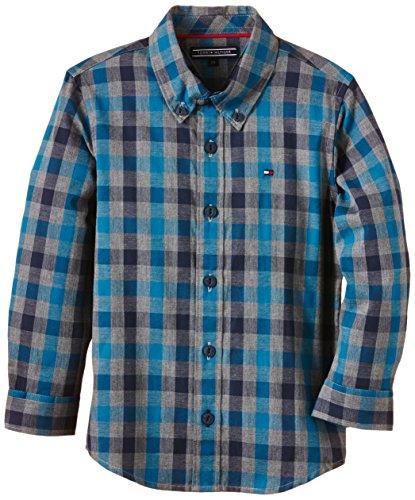 Calvin Klein Unisex Baby schlafanzugoberteile Mayor Check Shirt L/s