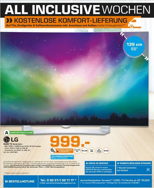 LG 55EG910V OLED TV, Full HD - Baugleich 55EG9109 / Lokal Saturn Herford