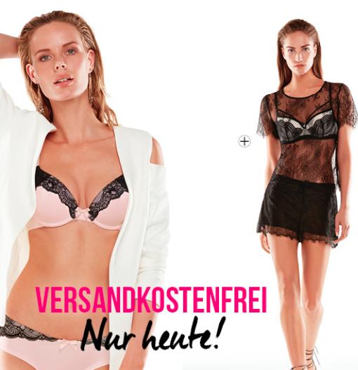 20% Rabatt auf ausgewählte Wäsche mit gratis Versand ab 20€ bei Hunkemöller - nur heute!