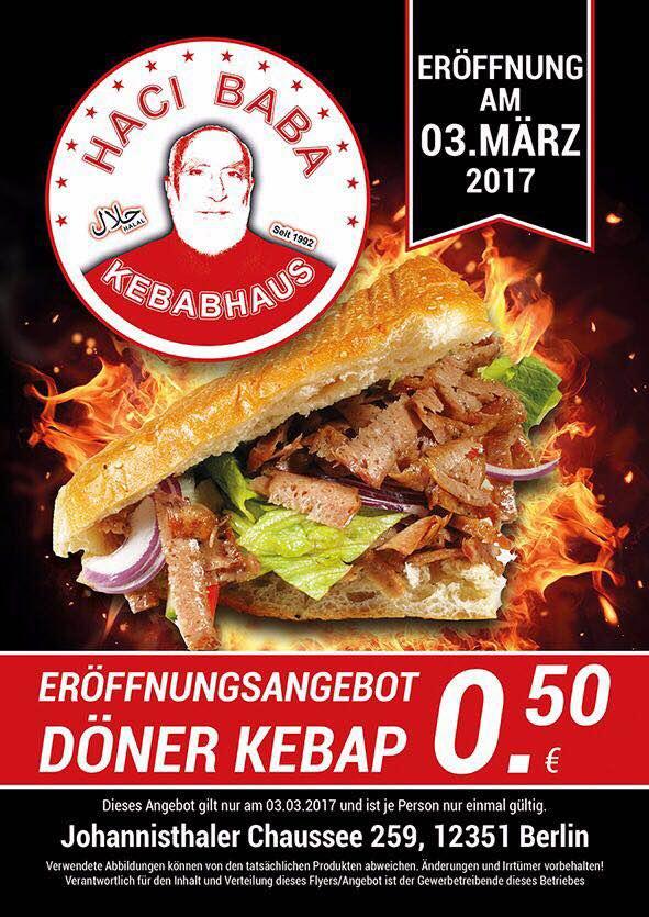 [lokal Berlin Neukölln] Döner Kebap für 0,50€