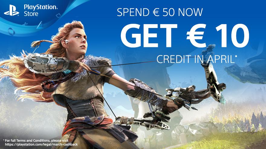 10€-Gutschein für [PSN], wenn man im März 50€ im Store ausgibt (auch PS+ und Vorbestellungen) (mit vergünstigtem Guthaben kombinierbar)