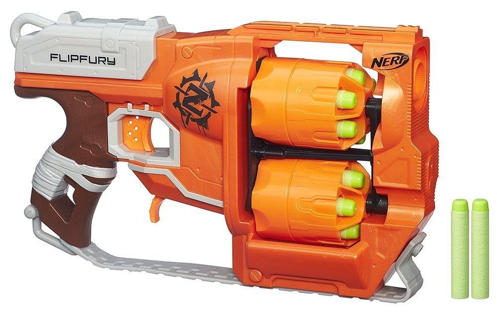 Amazon WHD - Hasbro Nerf A9603EU4 - Zombie Strike FlipFury, Spielzeugblaster