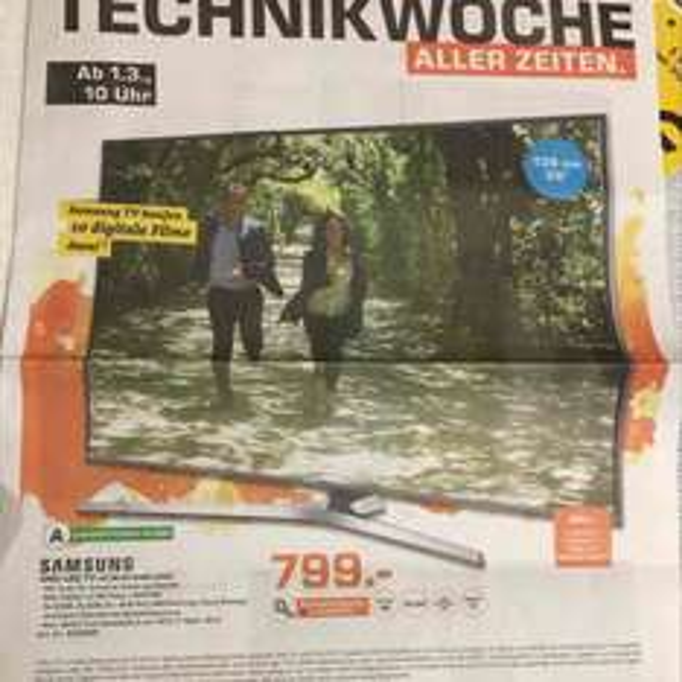 "[Saturn][Dortmund/Witten] Samsung 55"" 4K LED TV UE55KU6459 UXZG 799€ (vgl. Preis 1299€)"