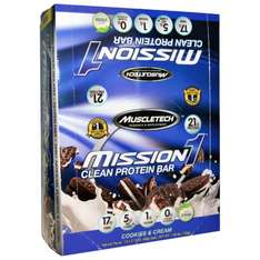 12 x Mission 1 Clean Protein Bar - wie Quest Bars!