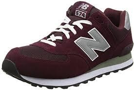 New Balance M574 Unisex-Erwachsene Sneakers Red/Grey/White Größe 44,5
