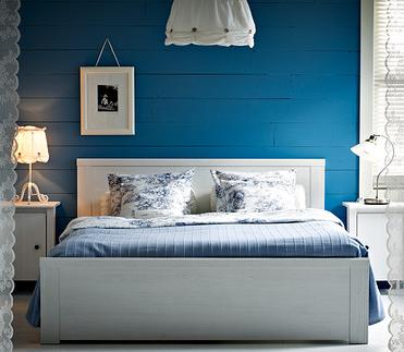 Ausgewählte Bettgestelle im Angebot bei Ikea, z.B. Brusali, 160x200 cm für 99,00€ statt 119€