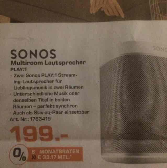 2 Sonos Play 1 für 199 Euro