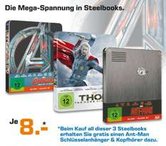 [Lokal Saturn Dortmund] Thor-The Dark Kingdom 3D Steelbook, inklusive 2D Version, Limited Collector´s Edition**Ant-Man - Steelbook [Limited Edition] Blu-ray) [Blu-ray 3D]**Avengers - Age of Ultron - 3D Blu-Ray - Limited Stelbook Edition für je 8,-€