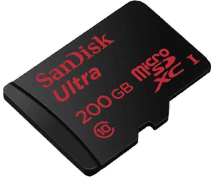 SanDisk Ultra 200GB microSDXC bis zu 90 MB/Sek, Class 10 Speicherkarte