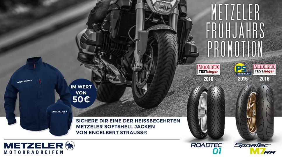 Metzeler Motorradreifenaktion 2017 - Softshell dazu