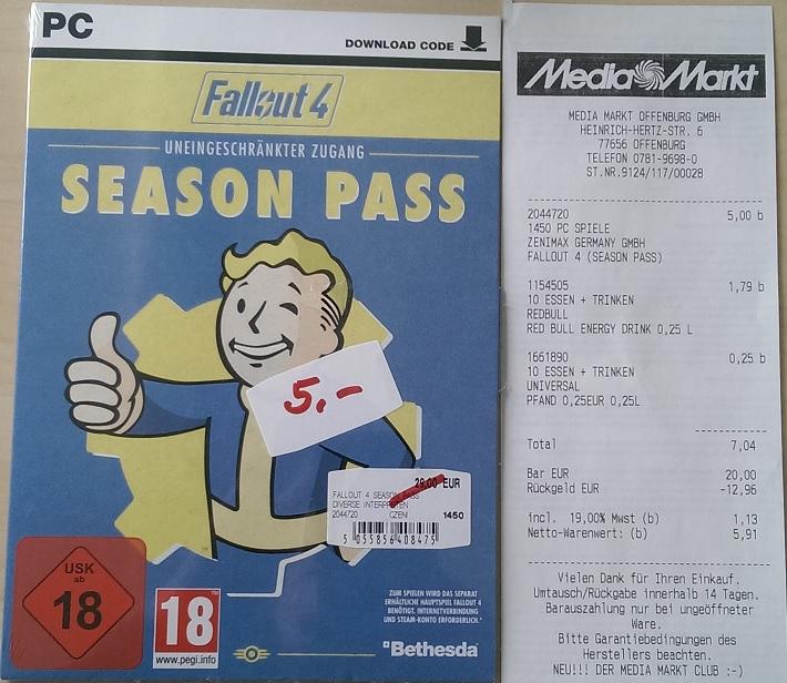 [lokal Offenburg] Fallout 4 Season Pass (PC)