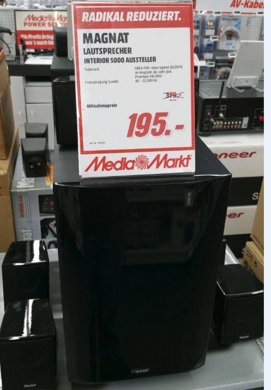 [Lokal Media Markt Berlin/Alexa] Magnat Lautsprecher Interior 5000 X1