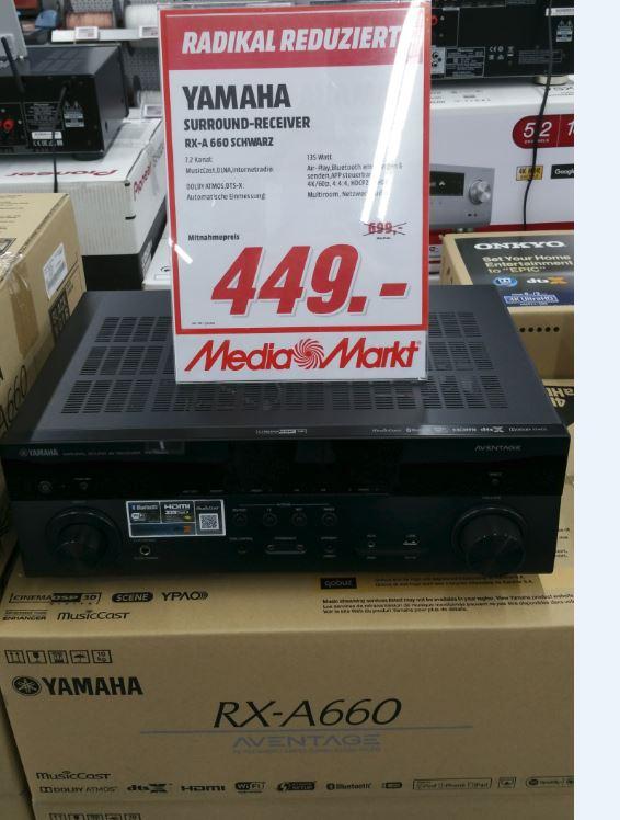 [Lokal Media Markt Berlin/Alexa] Yamaha RX-A660 AV-Reciever 7.2