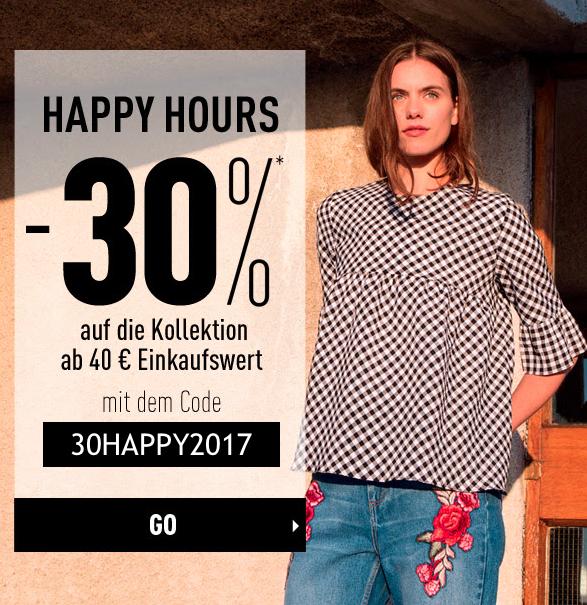 Happy Hour: 30% Rabatt auf das gesamte Sortiment (auch Sale) ab 40€ MBW bei Pimkie