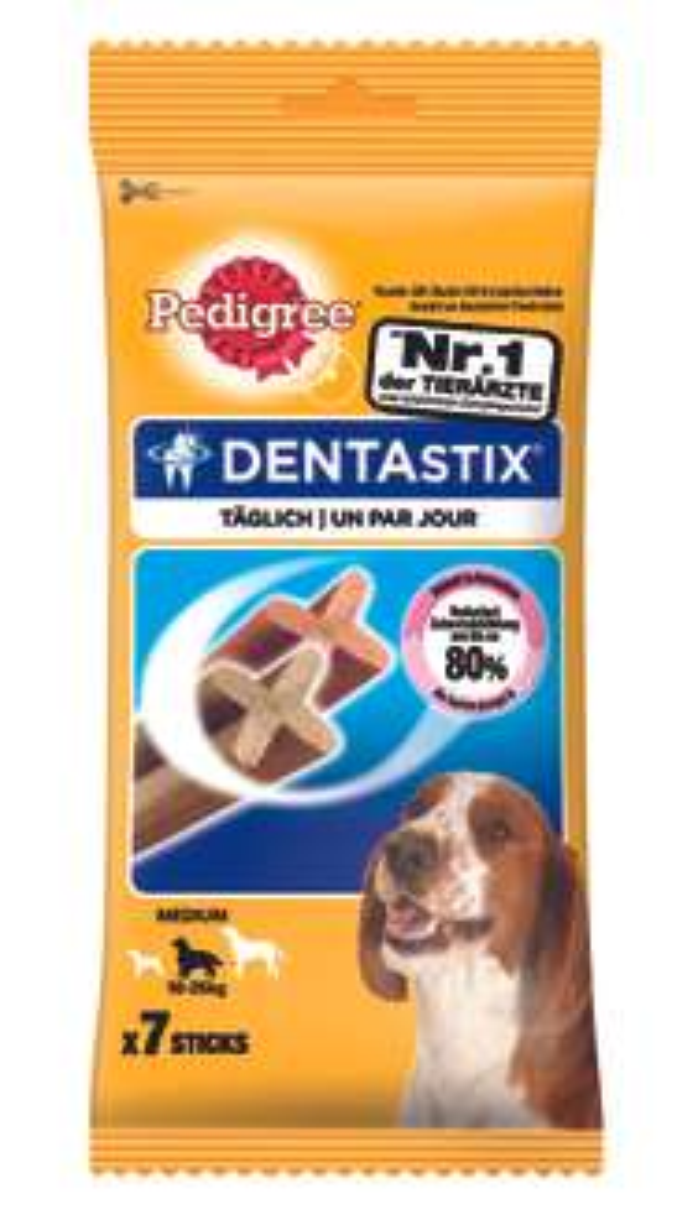 Pedigree Dentastix für mittlere Hunde 7 Stück 0,44€ plus 3,95€ VVS. Ab 29€ VVS = 0€