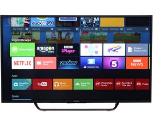 [AO] Sony KDL-49WD755 123 cm (49 Zoll) Fernseher (Full HD, HD Triple Tuner, Smart-TV) [Energieklasse A+] für 469€