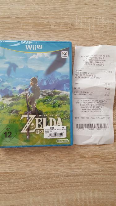 (Lokal Media Markt Oststeinbek) Zelda Breath of the Wild für Nintendo WiiU