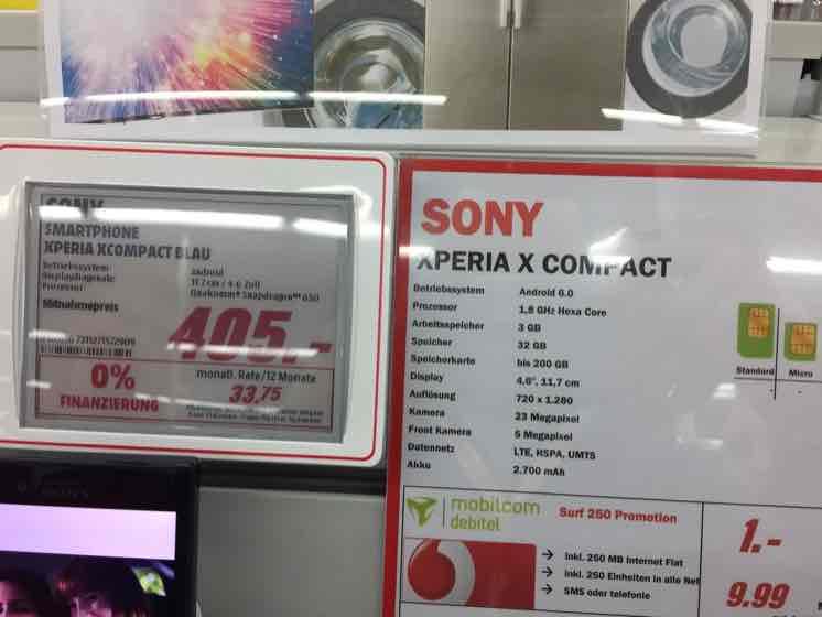 [Lokal Media Markt Meerane] Sony X Compact mit Ersparnis