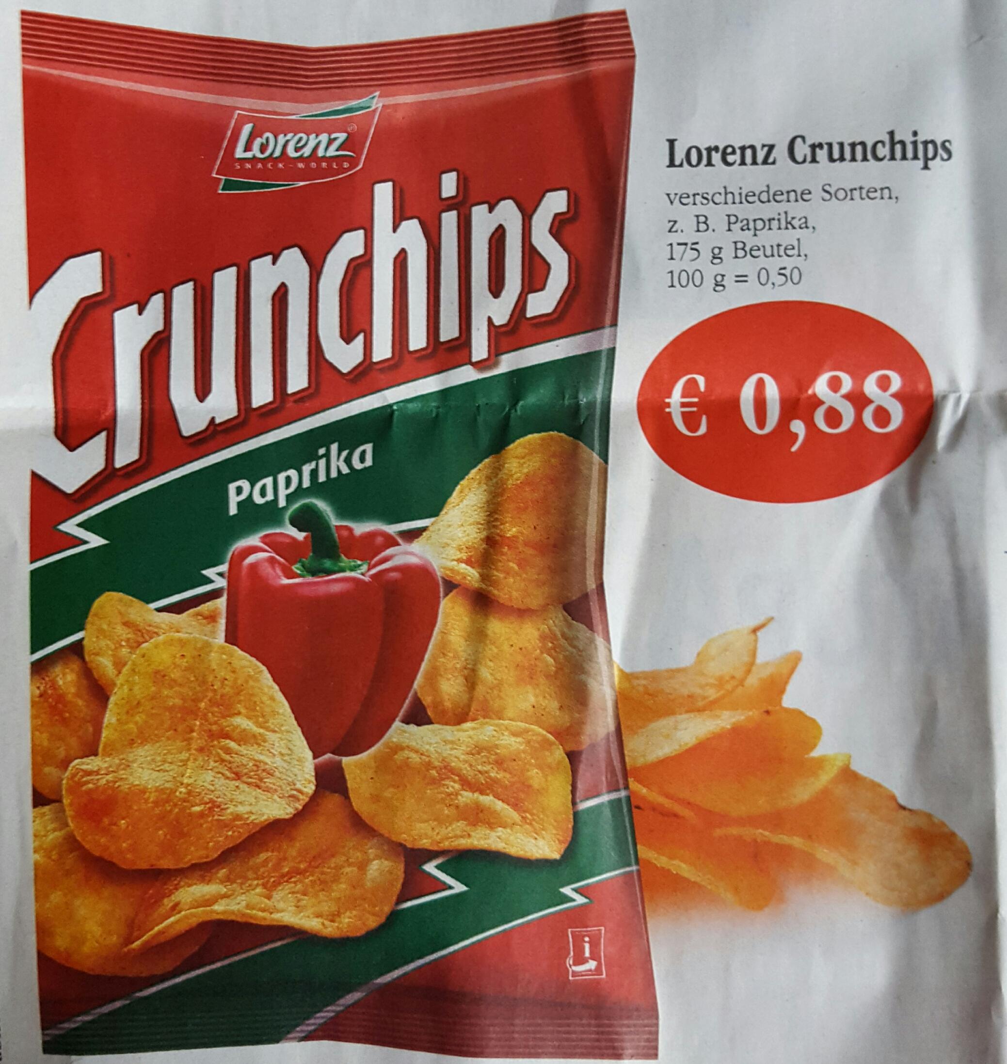 Lorenz Crunchips für nur 0,88€ bei Sky (Coop)