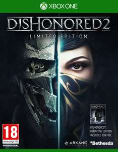 Dishonored 2: Das Vermächtnis der Maske Limited Edition inkl. Dishonored Definitive Edition (PS4/Xbox One) für 26,52€ (Shopto)