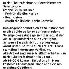 iPhone 6s 16 gb Restposten berlet