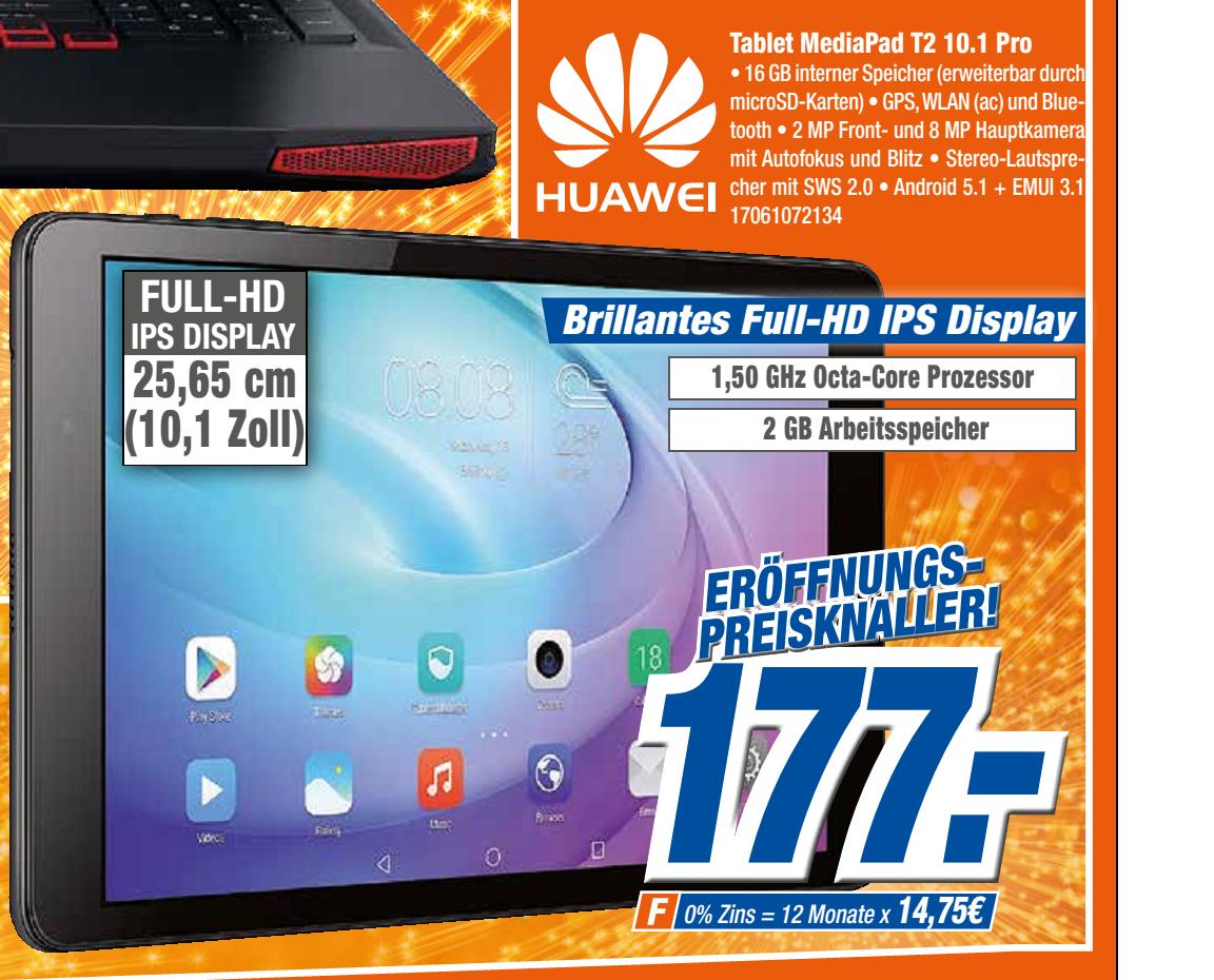 expert klein Gießen & Wetzlar Huawei MediaPad T2 10.0 Pro WiFi und vieles, vieles mehr