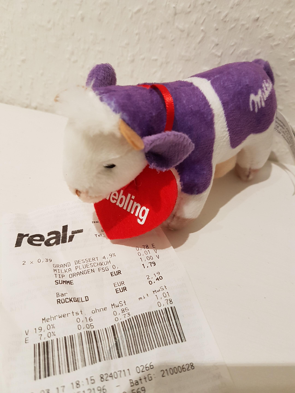 [Real] Milka Plüschkuh für 0,01€