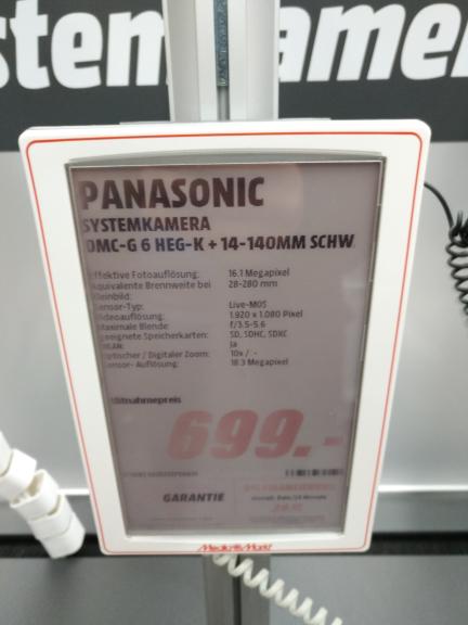 [MM München/Einstein] Panasonic DMC-G 6 HEG-K + 14-140MM Objektiv
