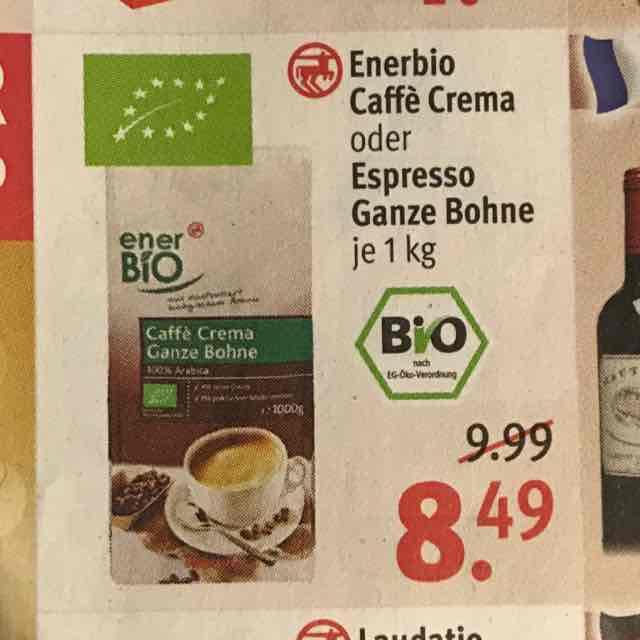 Rossmann Bio Kaffe Bohnen/gemahlen oder Lavazza Bohnen