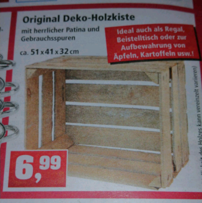 [Lokal] Deko Holzkiste / Obstkiste