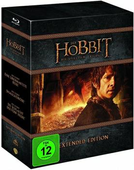 [alphamovies] DIE HOBBIT TRILOGIE - EXTENDED EDITION [Blu-ray] zum Bestpreis