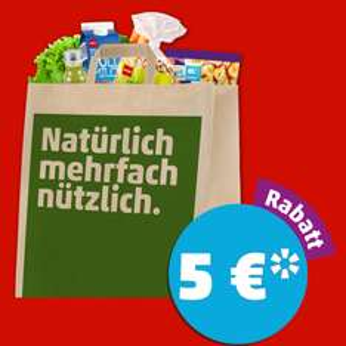 5€ Rabatt ab 40€ Einkaufswert am Freitag 10.03.17 18-24 Uhr [Penny] + Gratis Einkaufstasche