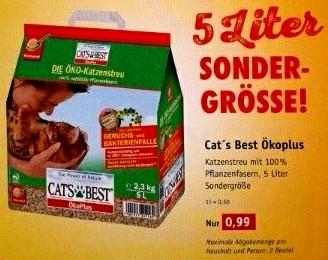 [Das Futterhaus] Cat's Best Ökoplus 5 Liter für 0,99 € (0,20€/Liter) - Lokal Kaiserslautern